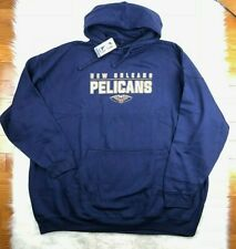 $55 NBA New Orleans Pelicans G-III Big Man Pullover Hoodie Navy Men's 5XL