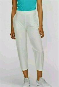 *NWT* Nike Women's Sail (Ivory) Golf Dry Flex Casual Woven Golf Capris XL