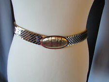 ceinture vintage métal façon écailles doré/argenté