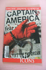 7.5 VF- VERY FINE DEATH OF CAPTAIN AMERICA # 25 VOL. 5 FRENCH EURO VARIANT