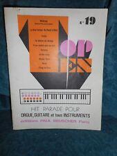 livret de 10 chansons Top Ten N° 19 - partitions chants guitare orgue clavier