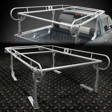 "132""X 57"" UNIVERSAL PICKUP TRUCK TRUNK BED OVER CAB UTILITY LADDER RACK SILVER"