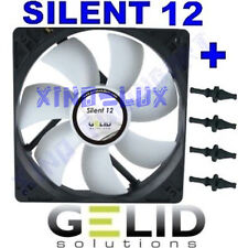VENTOLA per CASE FAN PC GELID 12 cm 120 x120x 25 mm 12V CON GOMMINI IN SILICONE!