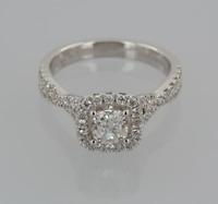 Vera Wang 18ct White Gold 1.30 carat Diamond Engagement Ring Size M