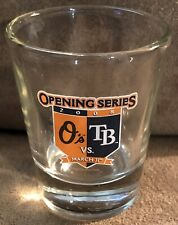 Baltimore Orioles Vs Tampa Bay Rays 2008 Opening Series Shot Glass