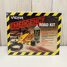 VICTOR V-210 Emergency Road Kit Cables Belt Cords Flares Flag Fix Bandage New