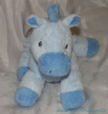 "Retired 2007 Ty Pluffies Baby Soft Plush 9"" Horsey The Blue Pony Lovey Sewn Eyes"