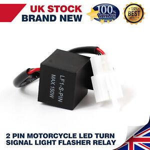 1X 2-Pin LED Flasher Relay Turn Indicator Light Blinker Fit For Honda Yamaha UK