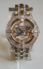 Men's Iced Out Hip Hop Bling Lab Diamonds Luxury Dress Techno Pave Fashion Watch