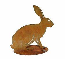 EDELROST Hasenfamilie Hase Rammler Tier Figur Gartendeko Rost Beetstecker Metall