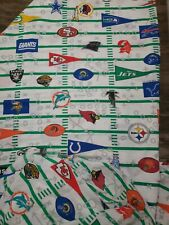 New listing Vintage 90s 1996 Nfl team logos Fitted and Flat Twin Size Fabric crafts bed