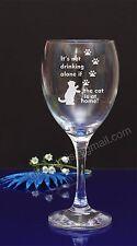 Cat Paw engraved wine glass Birthday,Christmas Secret Santa gift present 15