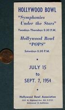 1954 California Hollywood Bowl Symphonies Under the Stars brochure-Liberace!*