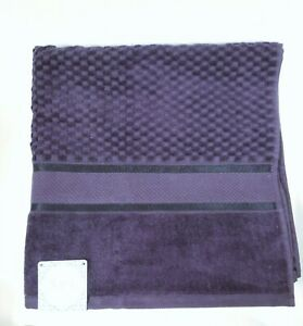 NEW SPA,KASSAFINA VIOLET  3D SMALL CHECKER PATTERN 100% COTTON BATH TOWEL