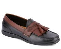 Dockers Men's Landrum Black Antique Brown Leather loafers-shoes