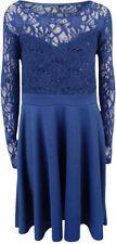 Vestiti da donna Stretch pizzo blu