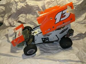 RC Remote Control Sprint Car Roller PBR Chassis B5M Based Conversion Dirt Oval