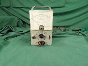 Vintage HEATHKIT Model AV-2 AC Voltmeter Test Dial Instrument