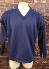 Easton Baseball Softball Warm Up Pullover Shirt Men Size L Fleece Lined Blue
