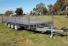 20x8 ft Flat Top Tri-axle Trailer 3.5 tonne