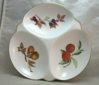 Royal Worcester Evesham 3 part divided nut, candy dish