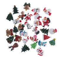 10pcs Puppenhaus Weihnachtsdekor Schneemann Baum Mini Dekoration Haarnadel XJ