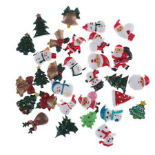 10pcs Dollhouse Christmas Decor Snowmans Tree Diy Mini Decoration Hairpin M&C