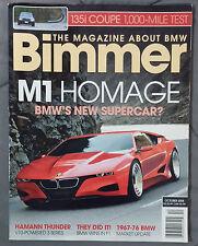 BIMMER BMW MAGAZINE 2008 OCTOBER #77 M1 M M3 E92 E90 E46 E30 E36 F13 E24