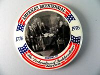 AMERICA'S BICENTENNIAL 1776-1976 PIN BACK DECLARATION OF INDEPENDENCE,3 1/2""