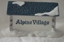 Heritage Village Collection Alpine Village Sign