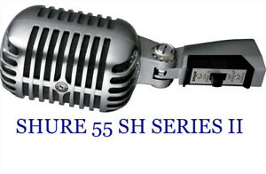 Shure 55 SH Series II Vocal Microphone with 20ft. XLR microphone cable.