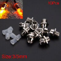 10PCS 3/5mm Round LED Holder Chrome Metal Silver Bezel Mount Rubber Base Display