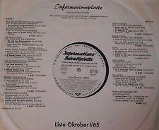 LP Informationsplatte 1965 PETER THOMAS Erwin Halletz RAIMUND ROSENBERGER !!! NM
