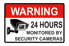 Warning CCTV Decals for your Home Shop Bussiness Factroy Camera Security 5PCS
