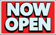 Now Open Sign Grand Opening Business Retail Store Plastic Signs