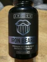 ZHOU IRON BEARD Beard Growth Vitamin Supplement Men Fuller Thicker Manlier 60 ct