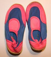 Toddler Girl's Pink Beach Shoes sz 10 Rubber Spandex Slip-on Swimwear Vacation