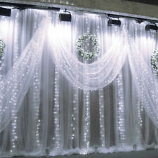 2ndGen LE White 9.8ftx9.8ft 306 LED Christmas String Fairy Wedding Curtain Light