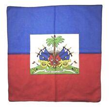 Haiti Flag Bandana Head Wrap Creole Caribbean Pride Port au Prince Haitian