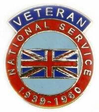 The National Service 1939-60 Enamel Veteran Pin Badge