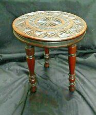 ANTIQUE MAHOGANY CARVED WOODEN STOOL.