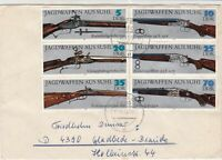 German DDR 1978 ilfeld Cancels Assorted Guns Multiple Stamps Cover Ref 30153
