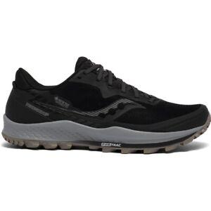 Saucony Mens Peregrine 11 GTX Running Shoes- Black/Gravel