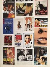 FRANCOIS TRUFFAUT, IMAGES OF MOVIE POSTERS, MEGA RARE AUTHENTIC 1994 POSTER