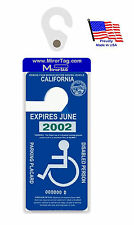 California Handicap Placard Holder & Protector. Sturdy Hook- ON & OFF in a Snap.