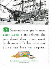 PUBLICITE ADVERTISING  1995   SAINT LOUIS  sucre pur canne COMPTOIR DU SUD
