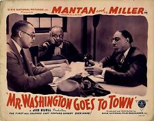 MR. WASHINGTON GOES TO TOWN (1941) Lobby card ft. Mantan Moreland African Amer.