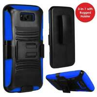 Rugged TUFF Hybrid Armor Hard Defender Case with Holster for Samsung Galaxy S8