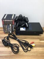 Sony PS2 Playstation 2 Fat Console SCPH-300001 Works Great. Bundle With 8 Games