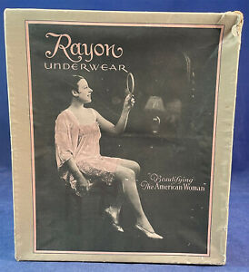 Vintage Rayon Underwear Beautifying The American Woman Lingerie Ad Paper Box